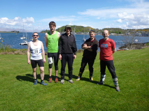 SIPR 2014 Team at start in Oban