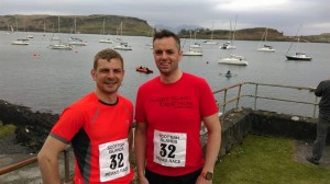 Craig and Robbie before the Oban Run