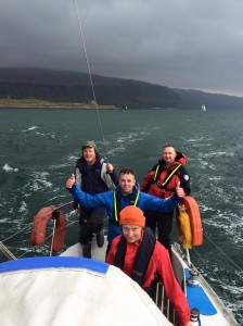 Flying up the Sound of Mull
